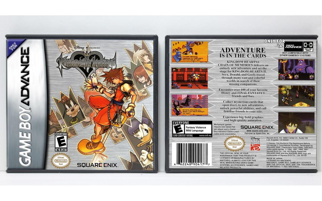 Kingdom Hearts Chain Of Memories Game Boy Advance Custom Game