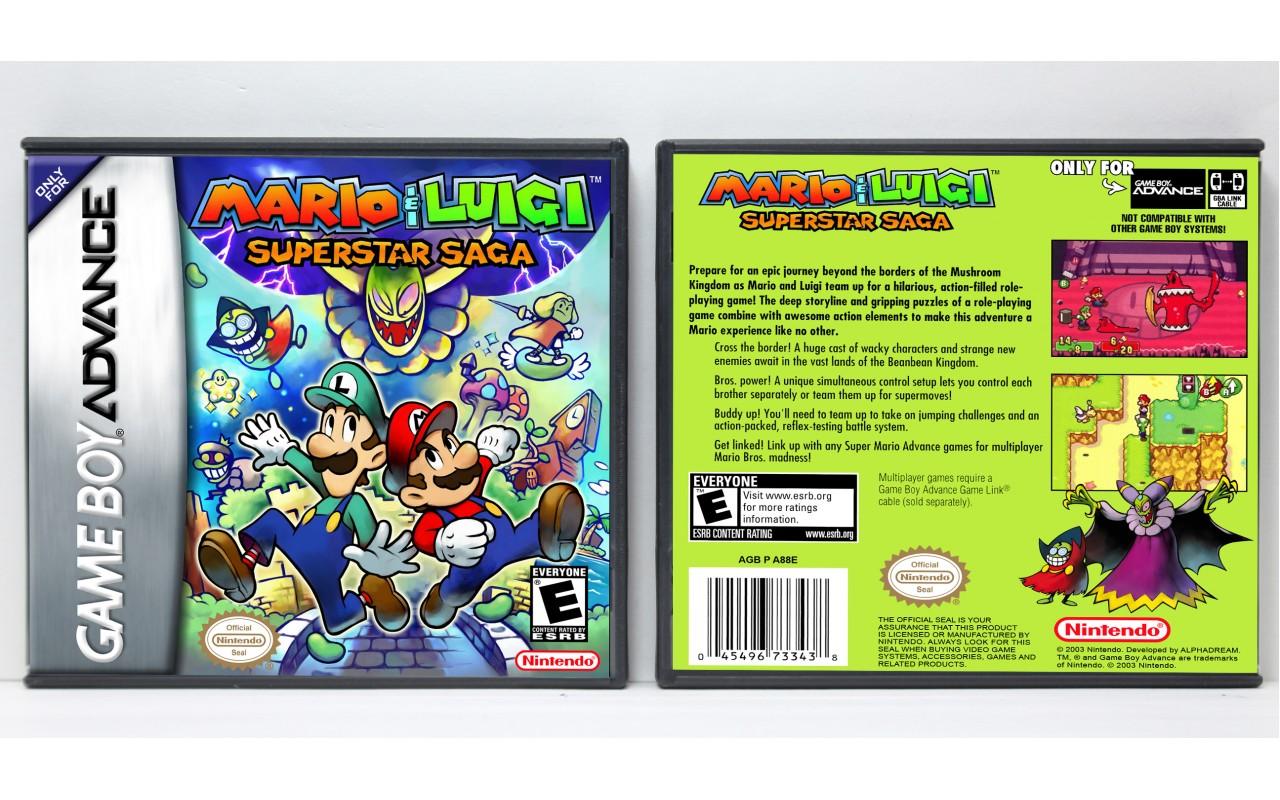 Mario Luigi Superstar Saga Game Boy Advance Custom