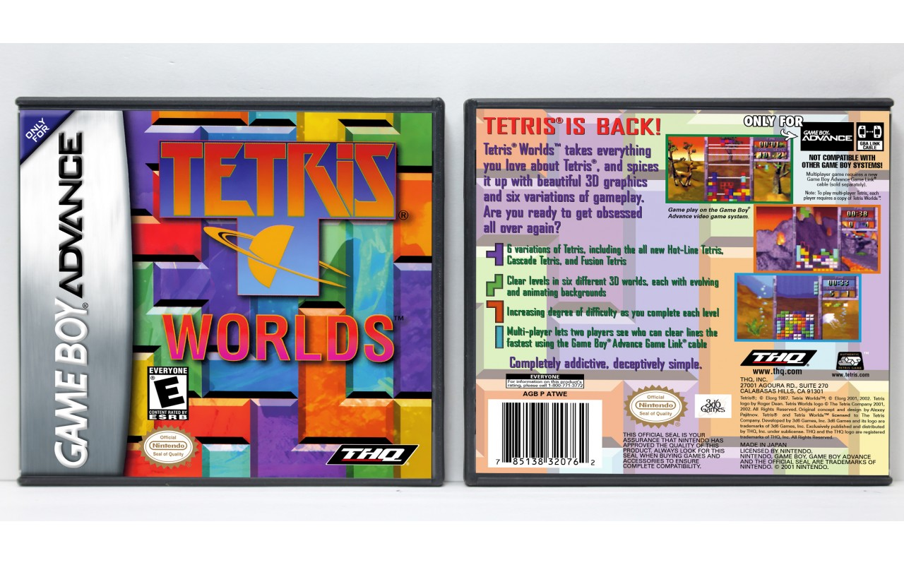Tetris Worlds - Game Boy Advance - Custom Game Cases for