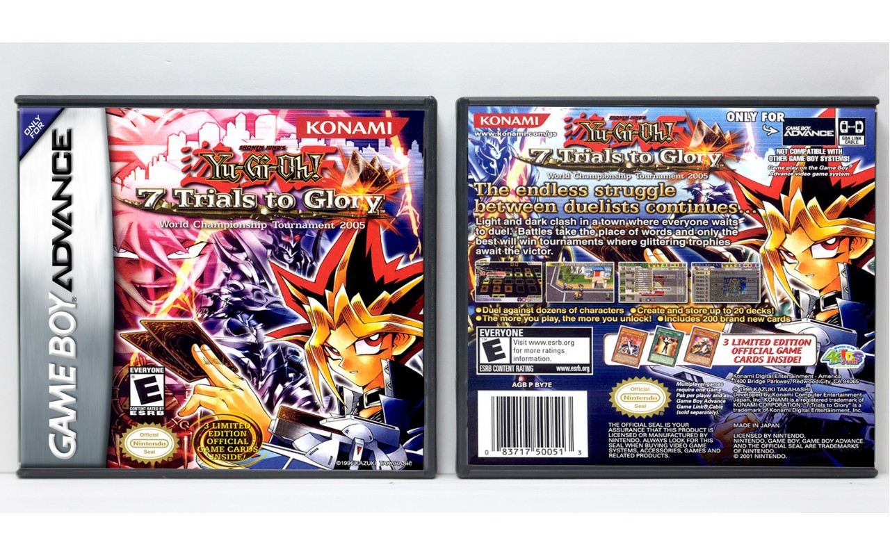 Yu Gi Oh 7 Trials To Glory World Championship Tournament 2005 Game Boy Advance Custom Game Cases For Retro Games By Gaming Relics
