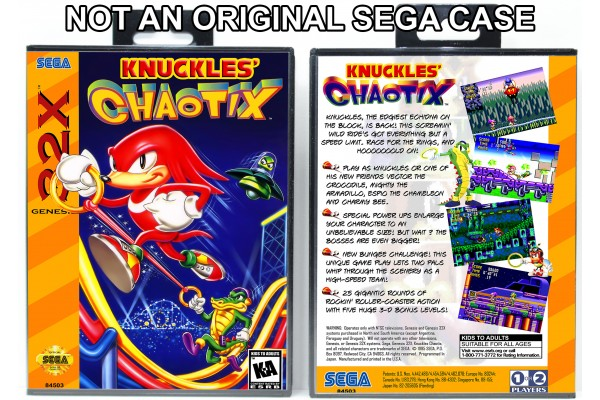 Knuckles Chaotix (Requires YOU to Modify the Case)
