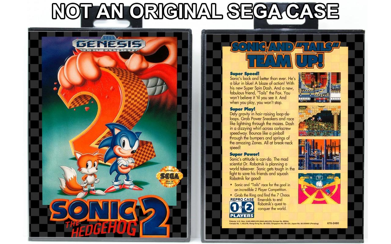Sonic The Hedgehog 2 Sega Genesis Custom Game Cases For Retro Games By Gaming Relics