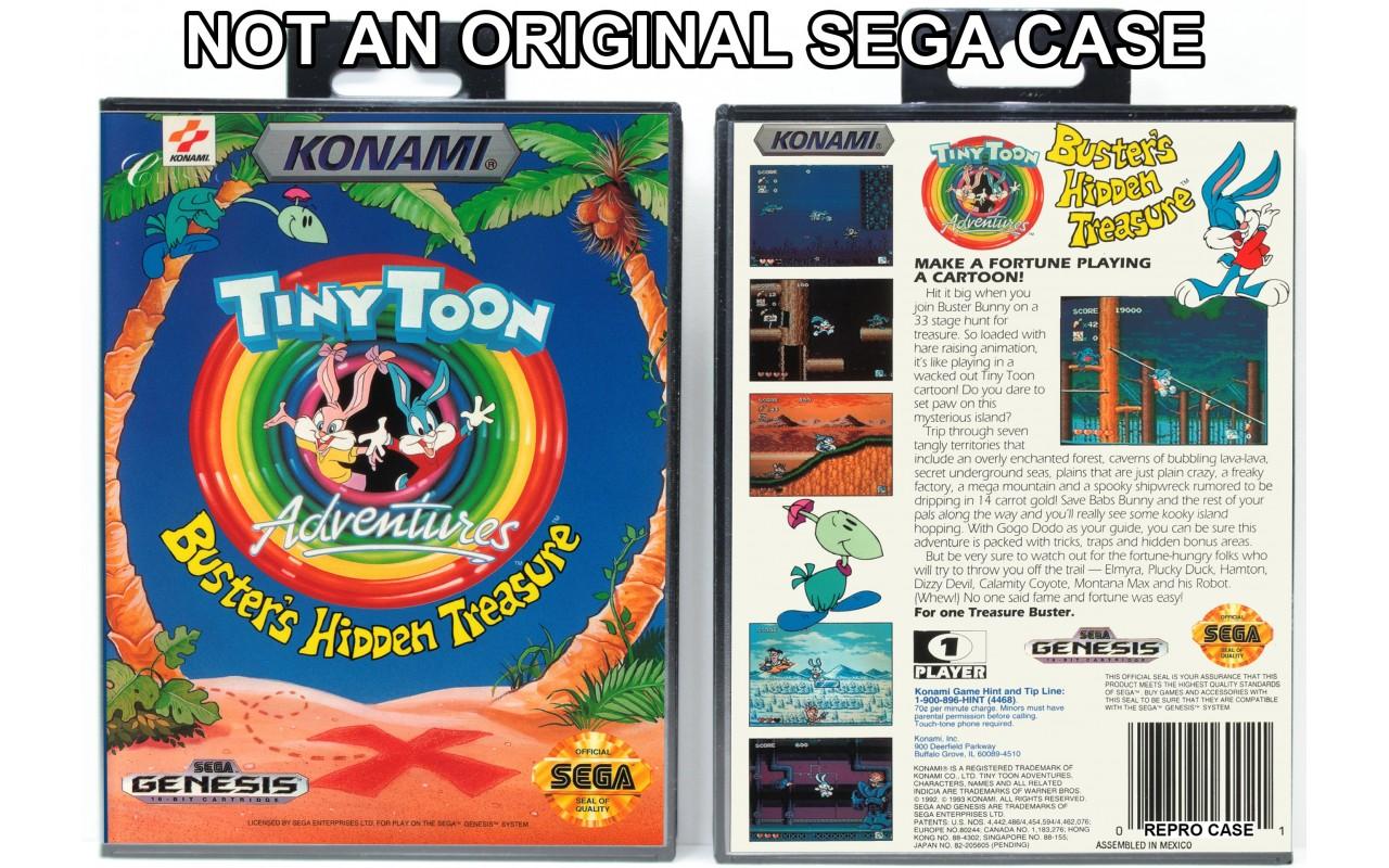 Tiny Toon Adventures Buster S Hidden Treasure Sega Genesis Custom Game Cases For Retro Games By Gaming Relics