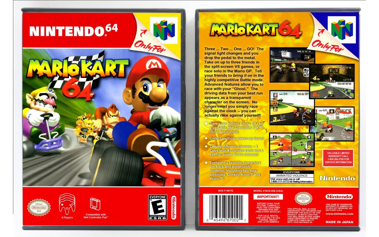 Mario Kart 64 Vertical Style Custom Game Cases For Retro Games