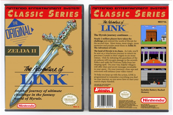 Legend of Zelda II: The Adventure of Link (Classic Series Release)