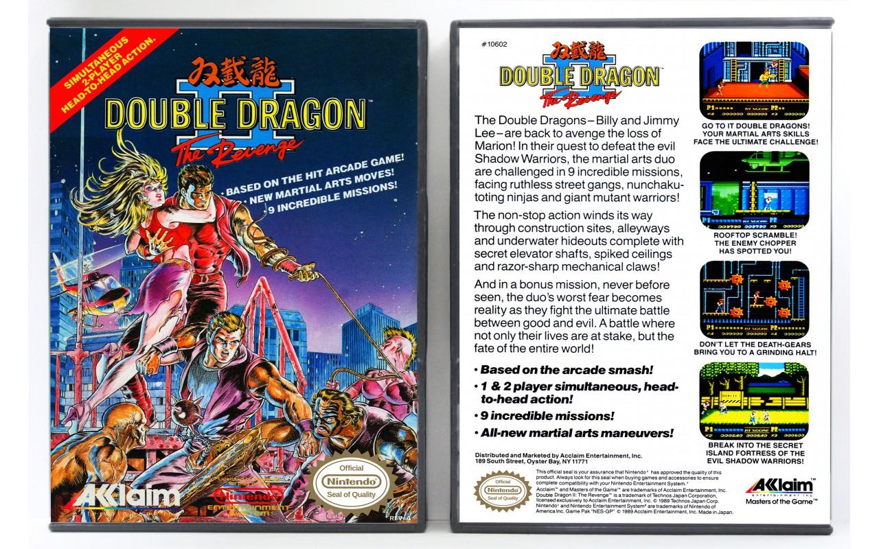 Double Dragon Ii The Revenge Nintendo Nes Custom Game Cases