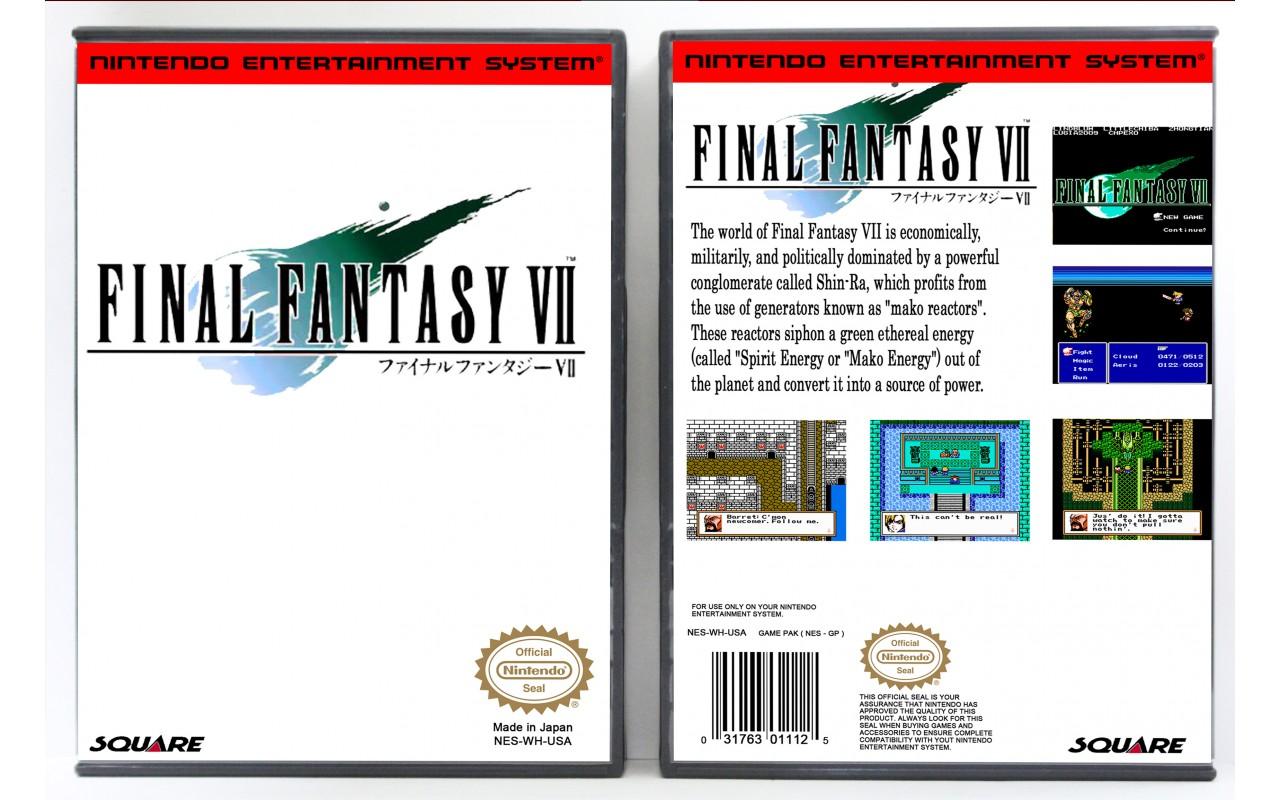Final Fantasy Vii Nes Repro Nintendo Nes Custom Game Cases For Retro Games By Gaming Relics