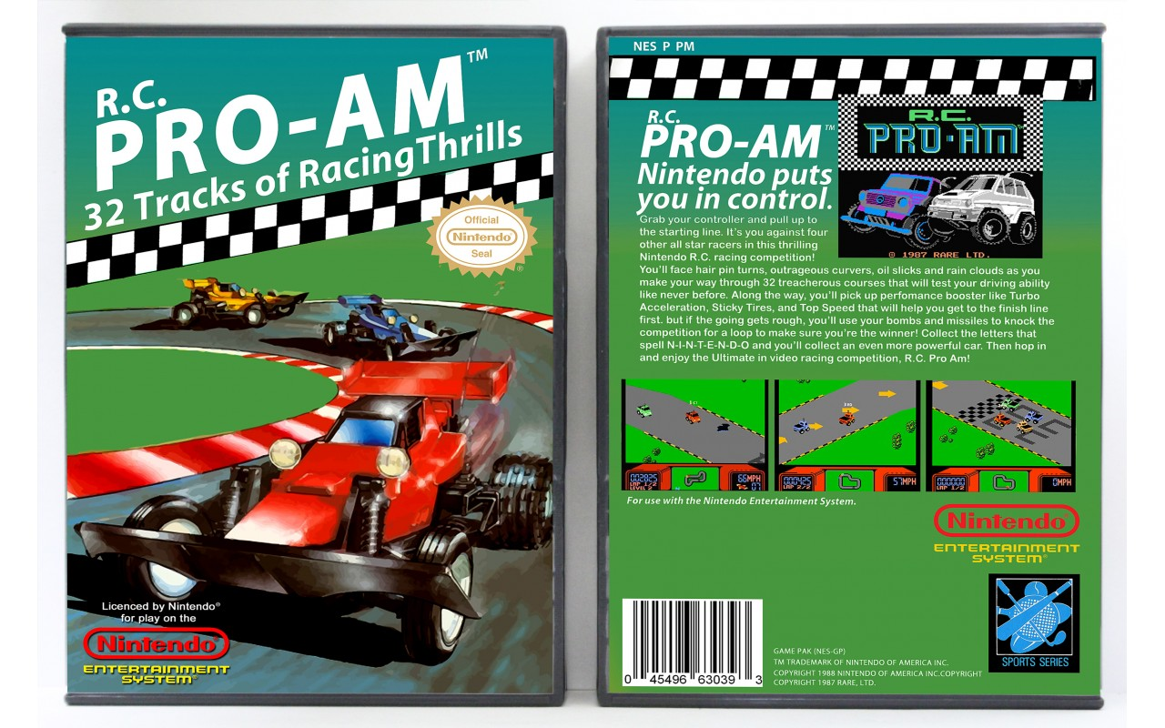 R C Pro Am Nintendo Nes Custom Game Cases For Retro Games By Gaming Relics
