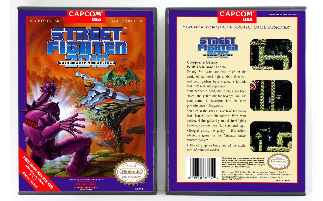 Street Fighter 2010 The Final Fight Nintendo Nes Custom Game