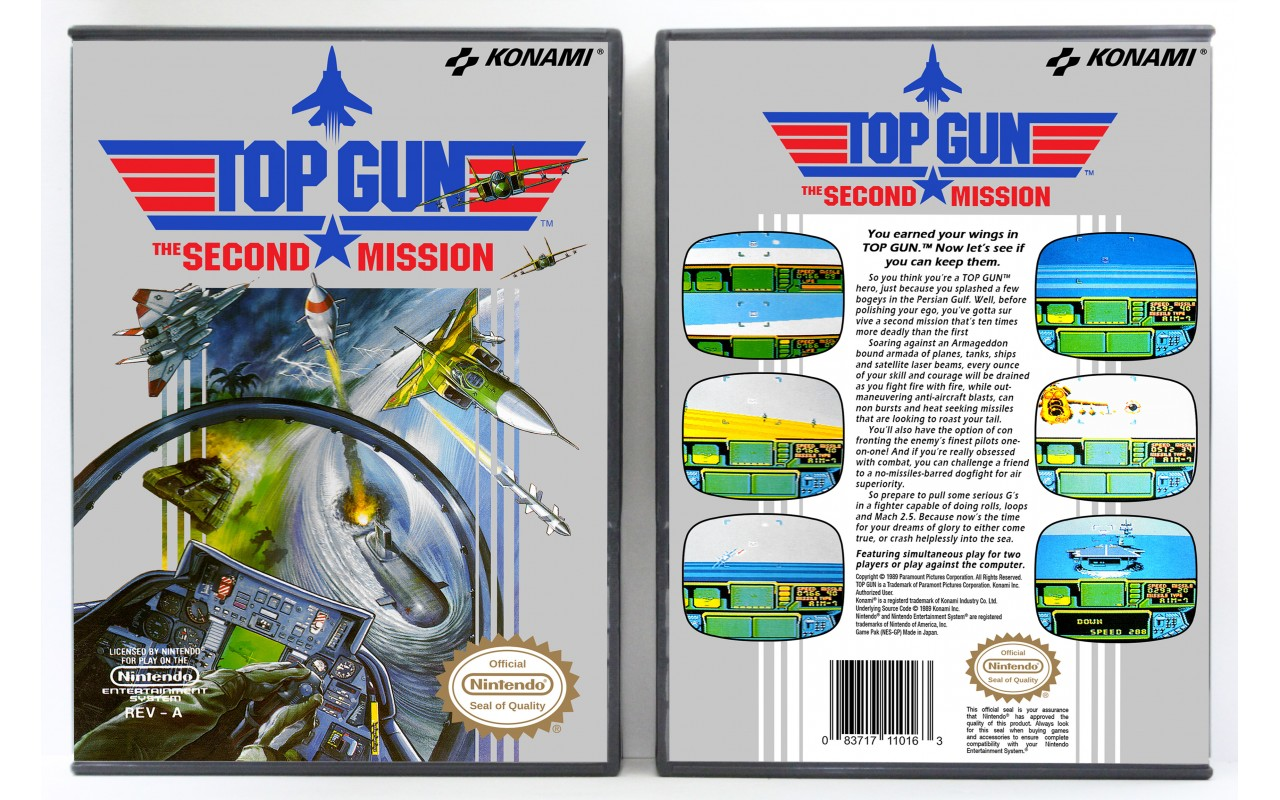 Top Gun The Second Mission Nintendo Nes Custom Game Cases For Retro Games By Gaming Relics