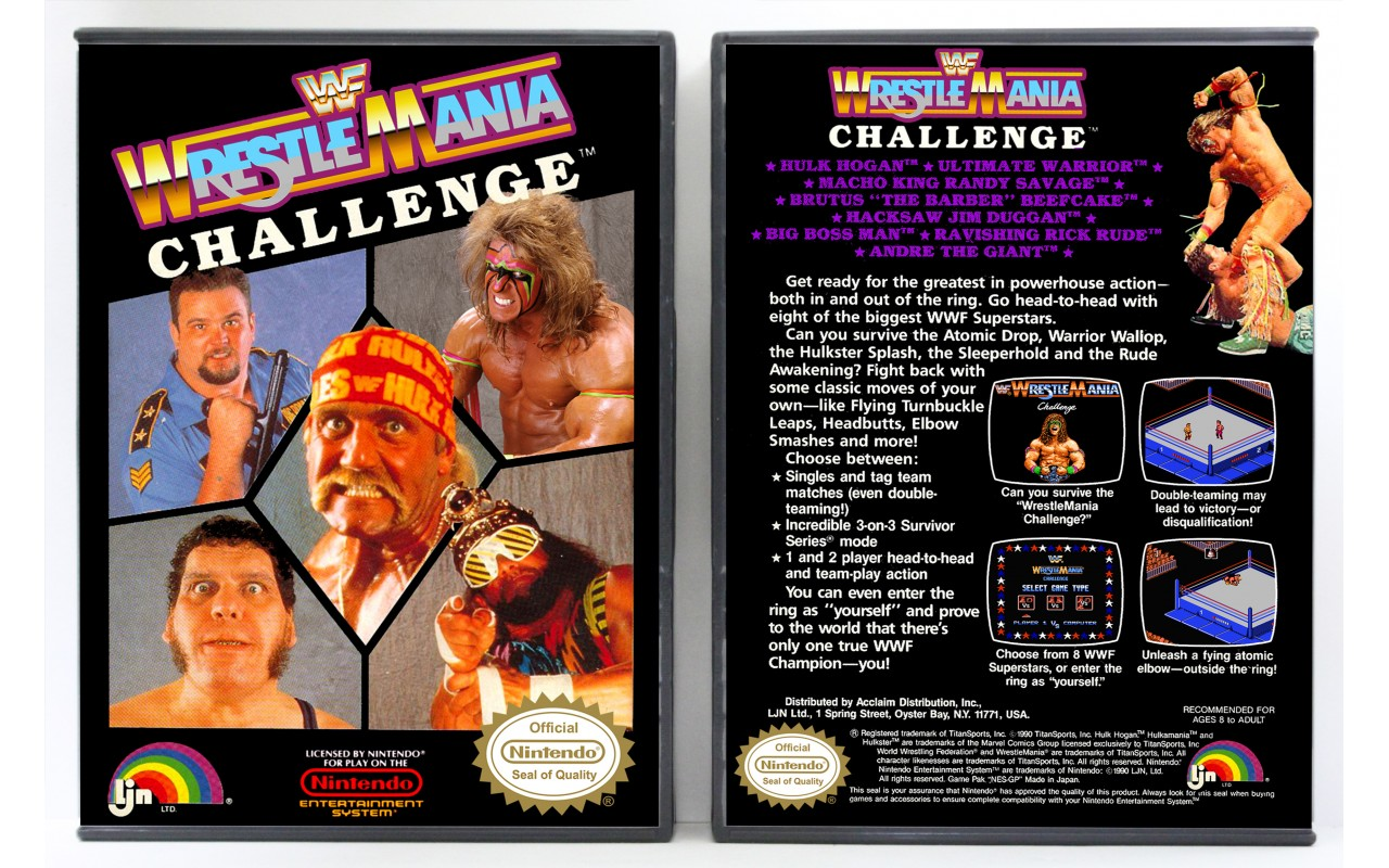 Wwf Wrestlemania Challenge Nintendo Nes Custom Game Cases For Retro Games By Gaming Relics