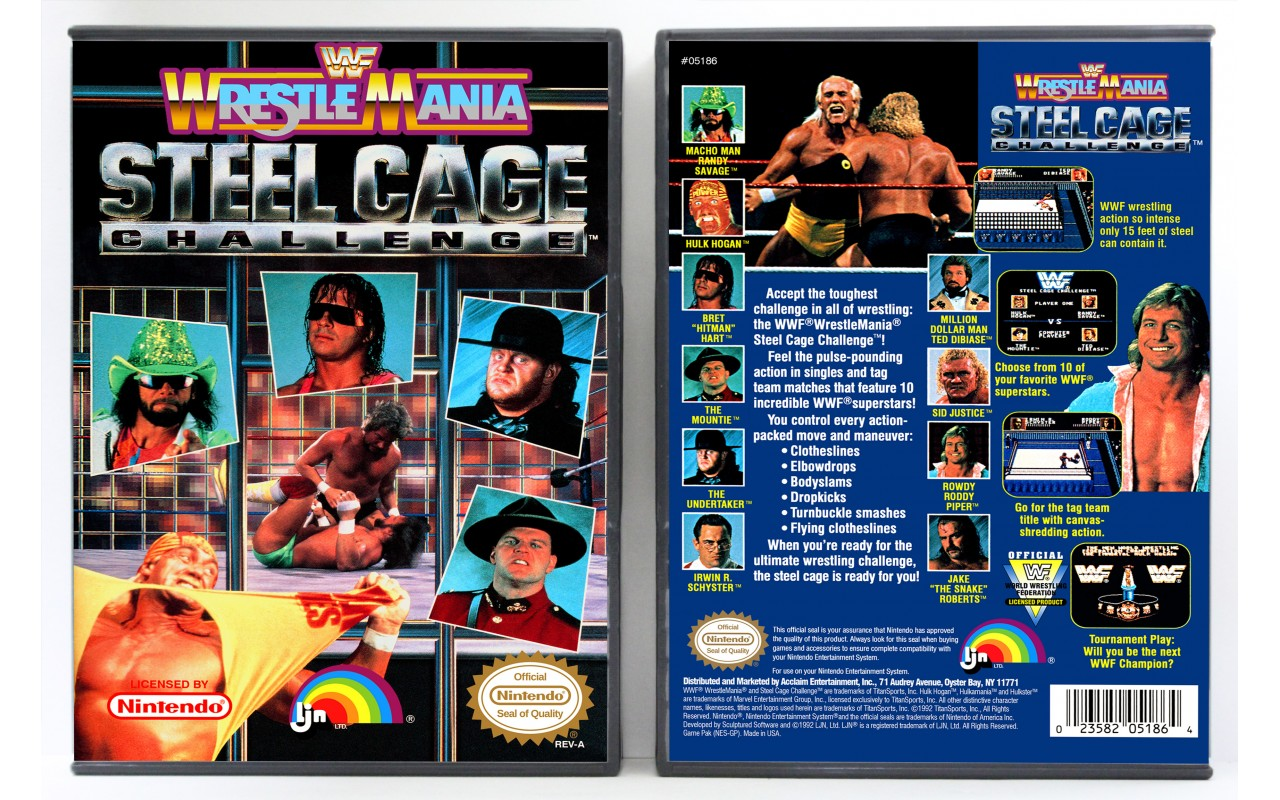 Wwf Wrestlemania Steel Cage Challenge Nintendo Nes Custom Game Cases For Retro Games By Gaming Relics