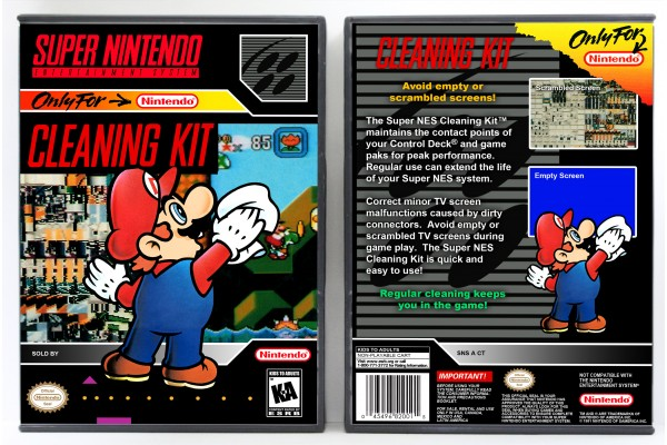 Super Nintendo Cleaning Kit