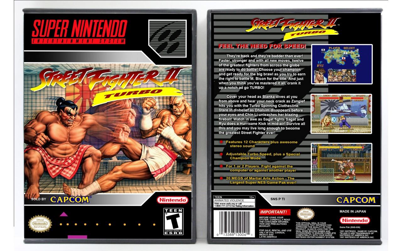 Street Fighter Ii Turbo Vertical Style Custom Game Cases For